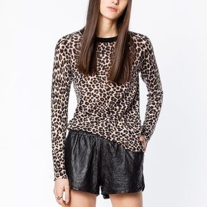 Zadig & Voltaire Miss Print Leo Sweater Thin Lightweight Cashmere size L Large